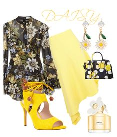 """""""Daisy"""" by mdfletch on Polyvore featuring Erdem, Boohoo, Nine West, Miu Miu, Marc Jacobs and Daisy"""