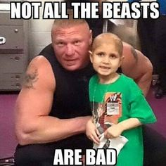Connor The Crusher and Brock Lesnar. Aww :')