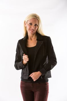 Moto Jacket in Washed Black by Articles of Society – Two Elle's Boutique
