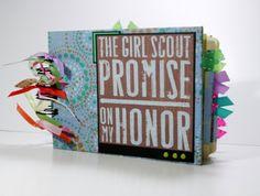 Girl Scout Scrapbook Mini Album Proud to be a by ScrapbookGallery, $27.00
