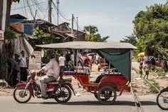 Cambodia's tuktuk, a popular mode of transport
