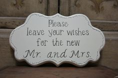 Wedding Sign Hand Painted Wooden Shabby Chic Sign by kimgilbert3,