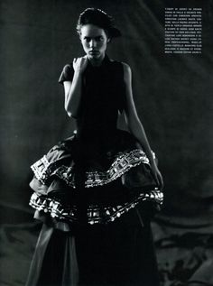 thefashionatelier:    Freja Beha Erichsen photographed by Paolo Roversi for Vogue Italy March 2008