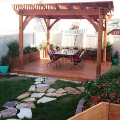 Awe Douglas-Fir Pergola, Planters, Deck & Suspension Table: As knotty as Cedar wood is, and I love Cedar, I personally, would still choose Douglas Fir for its beauty, strength, stability and proven durability! It is not just beautiful on the outside. Its inside characteristics surpasses any other species for sound responsible architecture.