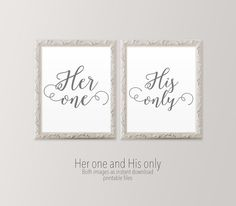 Printable art Master bedroom art Her one His by HeartOfLifeDesign