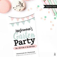 Wunderschöne Einladung – schnell & einfach! Kaufen – Individualisieren – Drucken – Einladen! Bleib spontan & sei populär!  **Dies ist ein _digitales Produkt_. Du erhältst eine PDF per e-Mail....