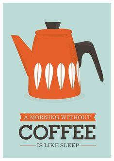 Kitchen poster coffee print cathrineholm kettle retro by handz Coffee Talk, I Love Coffee, Coffee Break, Coffee Shop, Morning Coffee, Coffee Lovers, Fresh Coffee, Kitchen Prints, Kitchen Art