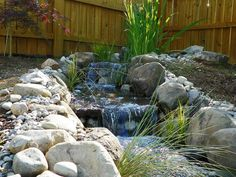 Backyard Water Features w/Waterfall created by Triangle Pond Management. #WaterfallWednesday
