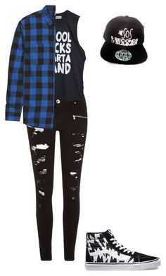 """Liam Minter  at 5sos concert"" by kljones-payne ❤ liked on Polyvore featuring River Island, High Heels Suicide and Vans"