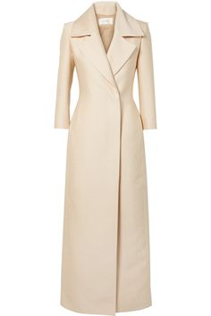 The Row Addy silk-crepe coat Blazer Dress, Coat Dress, Jacket Dress, Fashion 2020, Luxury Fashion, Hijab Fashion, Fashion Outfits, Coats For Women, Clothes For Women