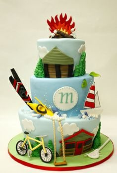 Vacation cake, By Lulu Cakes - check out the cake flavor combos on their site.
