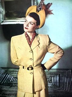 Lady Patricia McDonald is wearing a suit designed and tailored by Sumrie, 1947