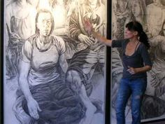 Patricia Schappler,...the finished drawing 'Finding Home' in its space :D