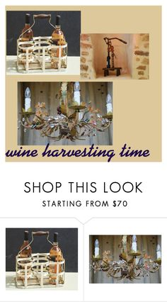 """Wine harvesting time"" by myvintageprovence ❤ liked on Polyvore featuring interior, interiors, interior design, home, home decor, interior decorating and vintage"