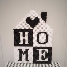 Home is where your heart is - Hama bead decoration by mamma_diy