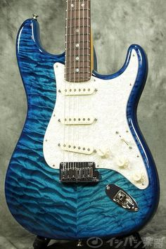 Fender Custom Shop MBS Custom Stratocaster Quilt Maple Top Carribean Trans Blue by Todd Krause