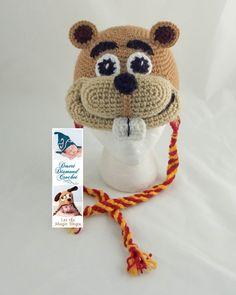 Crochet Pattern 092 University of Minnesota Gopher Hat All