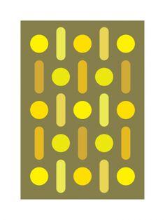 Stems (Art Print, 2013) // Gary Andrew Clarke yellow gold mustard
