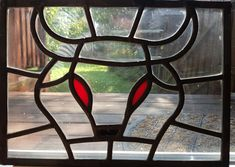 Stained Glass Bull Head by SuthViktoriaGlassArt Green Cleaning, Stained Glass, Furniture, Home Decor, Homemade Home Decor, Stained Glass Windows, Home Furnishings, Interior Design, Home Interiors