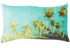 ALIA BILGRAMI Natural elegance  [Genevieve Levy silkscreened linen cushion, Manon Bis]