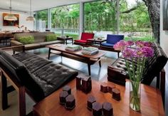 Modern Living Room and Miró Rivera Architects in Austin, Texas