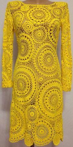 Crochet Dress For Girl Tutorial my Vintage Crochet Wedding Dress Patterns Crochet Dress Girl, Crochet Wedding Dresses, Crochet Summer Dresses, Crochet Clothes, Knit Dress, Kimono Dress, Dress Summer, Prom Dresses, Beau Crochet