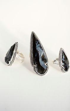 Pamela Love Obsidian Arrowhead Ring