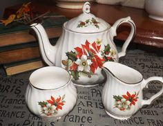 Vintage c.1970s Sadler 3975 Christmas Poinsettia by BuyfromGroovy