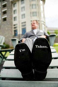This groom is taken #wedding #trouwen #bruidegom #schoenen www.njoyparty.nl