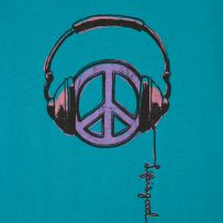 """Headphones and peace sign with """"Life is good"""" quote. Hippie Peace, Hippie Love, Hippie Art, Hippie Style, Peace On Earth, World Peace, Peace Love Happiness, Peace And Love, Peace Sign Symbol"""