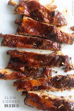 Real Food by Dad Slow Cooker Ribs   June 29, 2014   http://realfoodbydad.com/slow-cooker-ribs/