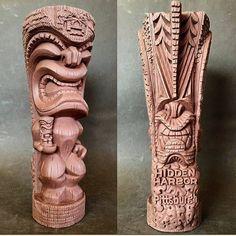 Tiki Hawaii, Hawaiian Tiki, Tiki Pole, Tiki Tiki, Easter Island Statues, Tiki Faces, Tiki Decor, Tiki Mask, Homemade Art