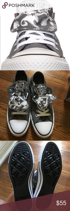 NWT converse women's as 7 gray/white double tongue NWT converse women's as 7 gray/white double tongue Converse Shoes Sneakers