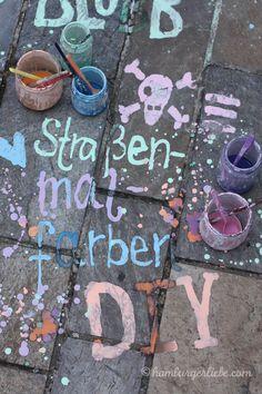 Tutorial Tuesday: Wie man Straßenmalfarbe selber- und Ferienkinder glücklich macht - Hamburger Liebe