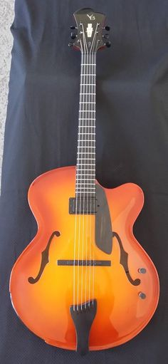 Handmade archtop guitar Model 17 with Violin sunburst L5 size model Jazz guitar by Victor Baker of Victor Baker Guitars from New York. http://www.victorbakerguitars.com/index2.php#/home/