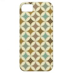 Autumn Colors Diamond Star in Circle Pattern Print iPhone 5 Covers