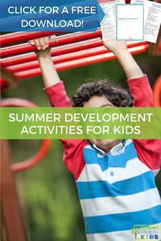 Get a list of summer development activities for kids with fine motor, gross motor, and visual-motor activity suggestions. Proprioceptive Activities, Visual Motor Activities, Bubble Activities, Outdoor Activities For Kids, Hands On Activities, Summer Activities, Preschool Activities, Summer Fun For Kids, Summer Ideas