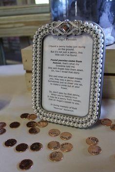 pennies from heaven were sprinkled around barn floor Pennies From Heaven, Barn Weddings, Receptions, Nifty, Sprinkles, Wedding Reception, Celebration, Floor, Words