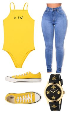 """"""""""" by alisoon02 ❤ liked on Polyvore featuring Converse and Gucci"""