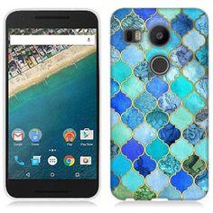 Mundaze Blue Stone Tiles Phone Case Cover for LG Google Nexus 5X