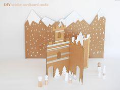 MAKE AN EASY WINTER CARDBOARD CASTLE
