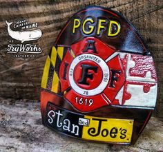 Shield completed last month for L1619 PGFD for their local watering hole... Stan…