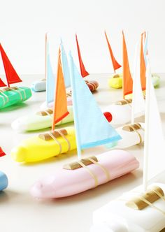 turn any shampoo bottle into a bath time boat. by floris hovers
