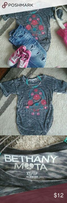 NWT Bethany Mota burnout T. Burnout look cute floral print lightweight and ready for summer!! Aeropostale Tops
