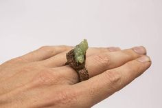 Crystal Raw ring rustic calcite Healing Crystals Natural