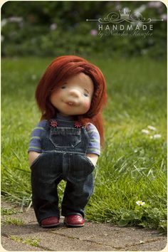 Abby. Waldorf inspired doll 12'' Natural Fiber Doll