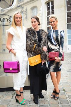 TOD's Celebrates the Signature Collection at the Italian Embassy - Virginie Courtin Clarins, Prisca Courtin Clarins and Jenna Courtin Clarins