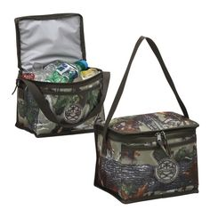 This popular 6-pack cooler is now available in popular camo print. It is perfect for your daily lunch box or outdoor adventures pack. Made of 600D Camo polyester and lined with heat sealed PEVA lining. An open pocket in front for accessories.