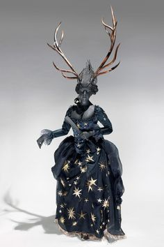 "Costume Reproduction for ""Diana, goddess of hunt and moon"",  from the ""Vauxhall Pleasure Gardens"" exhibition at the Museum of London"