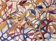 Goldfinches - Oil painting by Jayne Bunting Goldfinch, Bunting, Past, Presents, Oil, Gifts, Garlands, Past Tense, Buntings